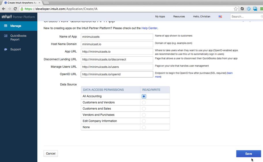 Integrating Rails and QuickBooks Online via the version 3 API: Part 1