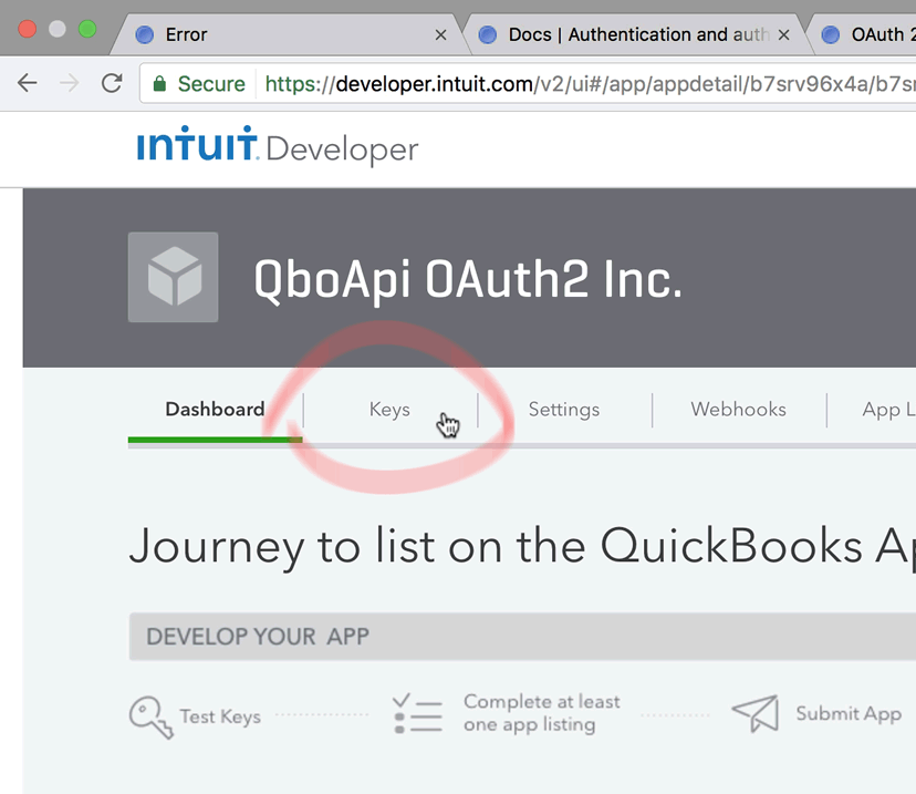 Access the QuickBooks Online API with OAuth2